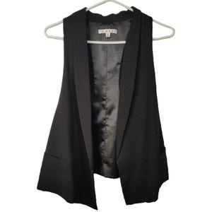 CAbi Formal Suit Waterfall Vest Black L